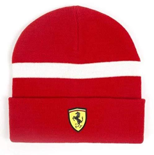 Ferrari SF Strickmütze Casuale, Red, Talla Única para Todos Unisex Adulto