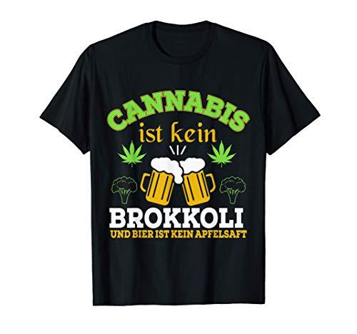 Cannabis Gras Weed Geschenk Bier Alkohol Geschenkidee Rauch T-Shirt
