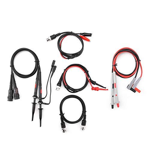 Kits de cables de prueba, práctico cable multímetro de 16 anillos de marcado, con tapa protectora amarilla Cable de cables de osciloscopio, para la construcción de la industria química