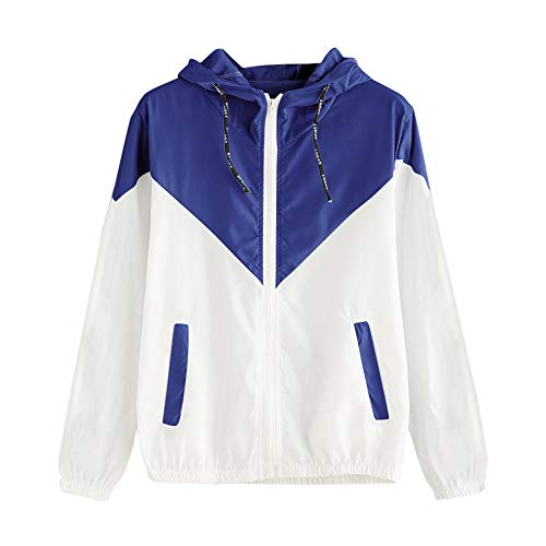 LUNULE Chaqueta Chaquetas Mujer Primavera Otoño Chandal Mujer Manga Larga Sportswear Cortaviento con Capucha Camisetas Deporte Abrigo Deportiva Mujer