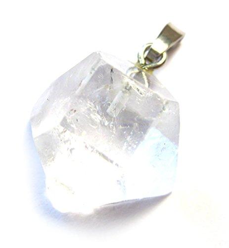Apophyllit Roh-Kristall weiß 15-20 mm mit 925er Silberöse