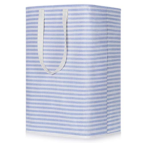Jack&Chris Laundry Hamper,75L Freestanding Collapsible Extra Large Laundry Basket with Easy Carry Extended Handles Clothes Basket,Waterproof Storage Bags for Clothes Toys, Light Blue
