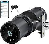 SmartCoolous F20 Smart Lock Fully Automatic Tuya Smart Lock Fingerprint Door Lock 4-in-1 Unlock Touch Screen Bluetooth APP Keyless Entry Door Lock
