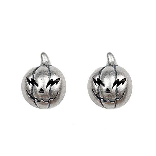 LSXX Oorstekers met pompoen en hoofd van sterling zilver halloween metaal oorstekers Cyberpunk oorbellen gothic oorbellen