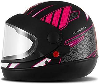 Pro Tork Capacete Super Sport Moto Power Girl Fosco 58 Preto