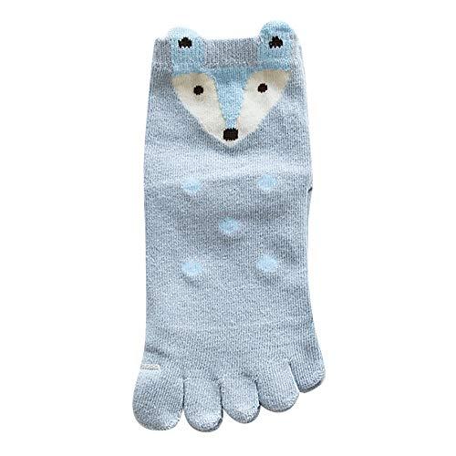 XuxMim Kinder Animal Design Zehensocken Five Finger Socks Baumwolle Lustige Socken