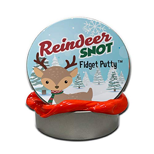 Gears Out Reindeer Snot Fidget Putty Stress Relief Christmas Ideas Funny Gags for Children Weird Kids Stocking Stuffers Secret Santa for Coworkers Unique White Elephant Ideas Red Putty