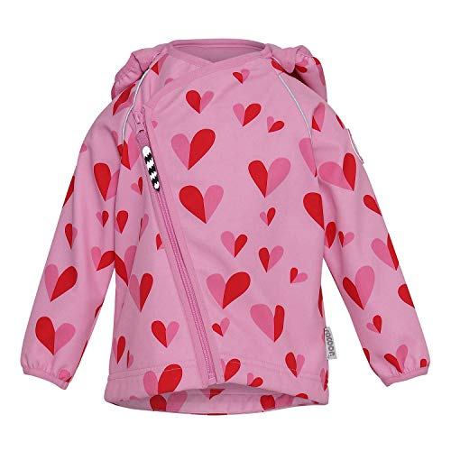Racoon Baby-Girls Softshell Jacket, Double Heart, 98