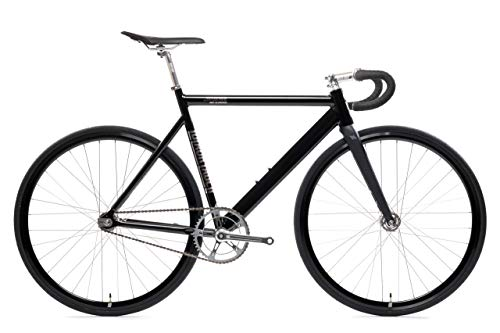 Fantastic Prices! Black Label 6061 v2 Aluminum Fixed Gear Bicycle - Black Mirror, 59cm - Drop Bar
