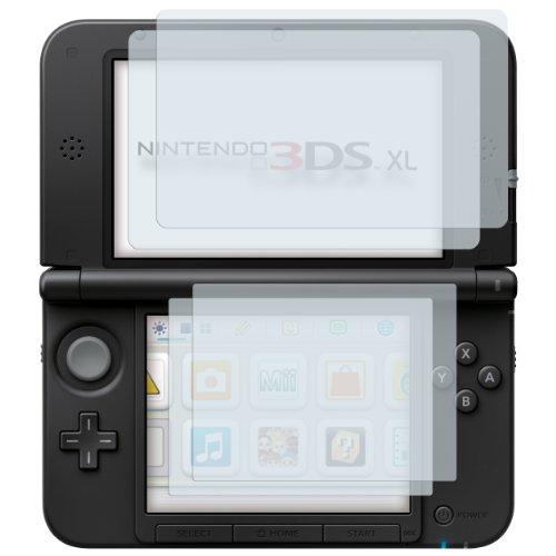 mumbi Schutzfolie kompatibel mit Nintendo 3DS XL Folie klar, Displayschutzfolie (4X)