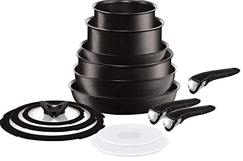 Tefal Ingenio Induction Compatible Black 14 Piece Pan Set