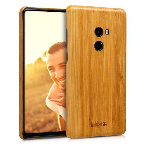kalibri Xiaomi Mi Mix 2 Hülle - Handy Bambus Schutzhülle - Slim Cover Handyhülle für Xiaomi Mi Mix 2 - Hellbraun