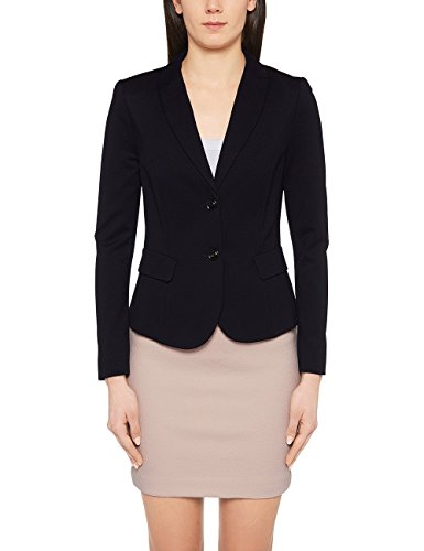 Marc Cain Essentials Damen Blazer +E3410J24, Blau (Midnight Blue 395), 40 (4)