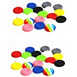 40pcs Colorful Silicone Accessories Replacement Parts Thumb Grip Cap Cover For PS2, PS3, PS4, XBox 360, XBox One Controller