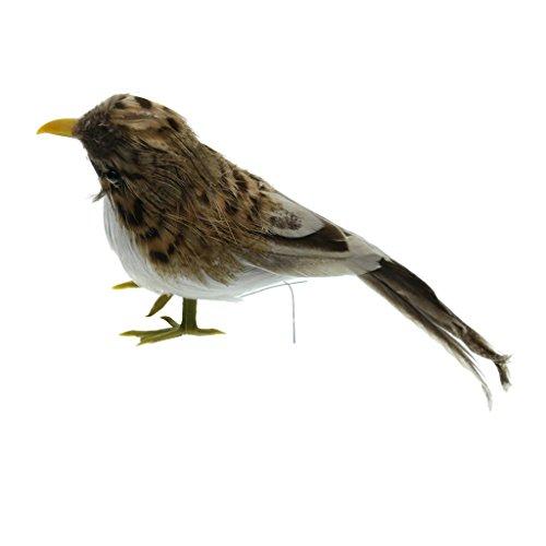 Sharplace Deko Vogel Figur Vögelchen aus Künstliche Feder und Kunststoff Dekofigur Vögel Dekovögel - 1