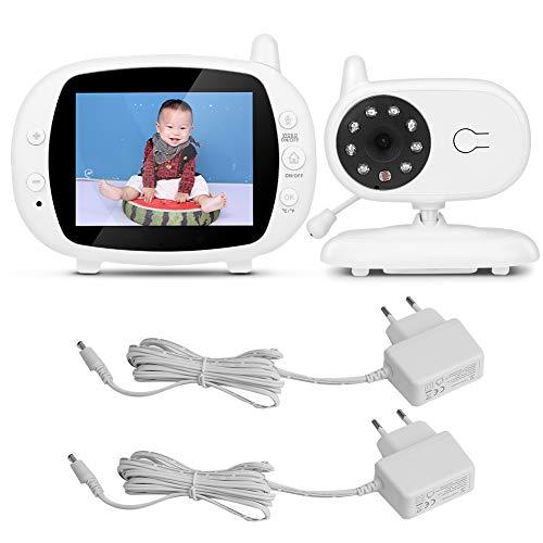 Liujaos Monitor de bebé, Monitor de bebé con cámara de Pantalla LCD, intercomunicador inalámbrico de 3,5 Pulgadas para habitación de bebé(European Power Supply, Baby Monitor, Transl)