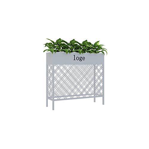 William 337 Bloemenstandaard, eenvoudig smeedijzer, wit, scheidingswand, bloementrag, huishouden, balkon, planten, bloempotten, theestube, koffie, outdoor bloemenbak