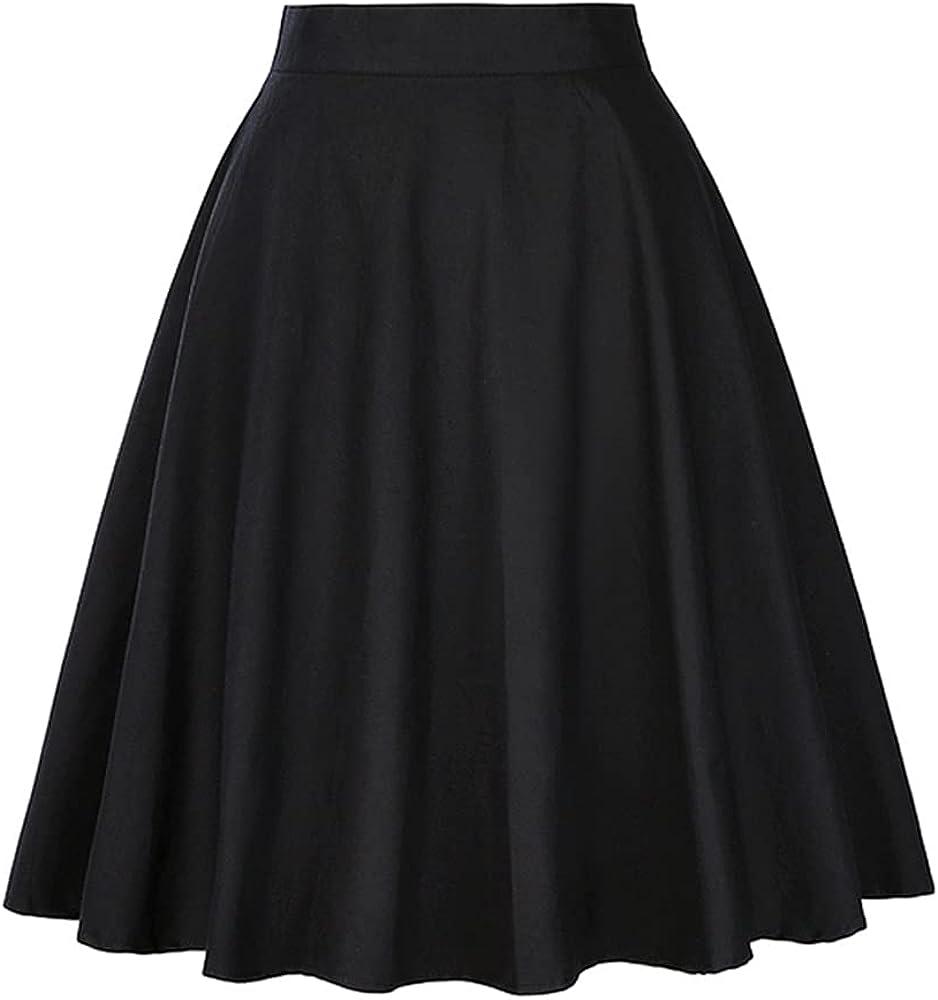 Summer Waist Casual Skirt Wave Dot Cherry Pleated Sweet Skirts Plus Size