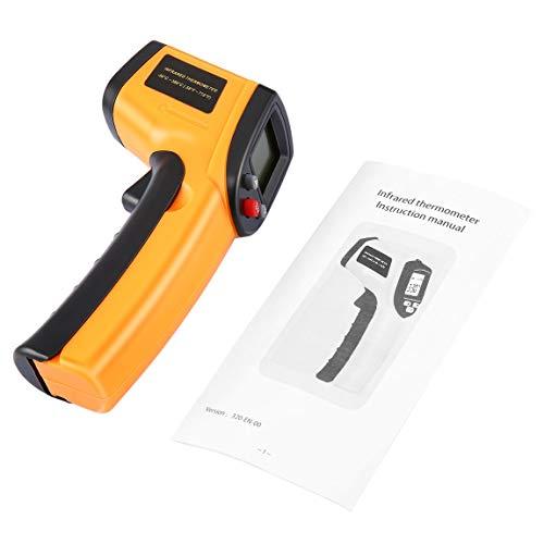 Termometro digitale a infrarossi senza contatto Pistola Termometro a infrarossi Punto laser IR Termocamera a infrarossi Temperatura Misuratore palmare Pirometro e (colore: giallo)