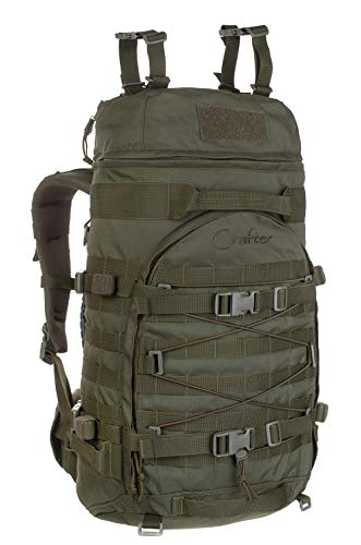 Wisport Crafter 55L Mochila para Aire Libre Caminata de montaña Militar, Combate, Deporte, Aire Libre, Camping, Paintball (Olive Green)