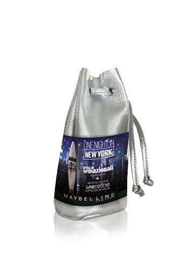 Maybelline New York - Estuche edición limitada de Navidad Look One Night en Nueva York con máscara de pestañas sensacionales y lápiz de ojos