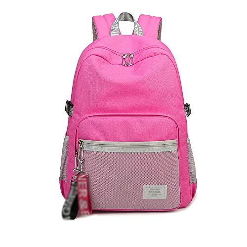 SHIJIAN Sacs légers de Sac à Dos légers de Style décontracté de Sacs d'école for Les Adolescentes/étudiants/Femmes (Color : Pink)