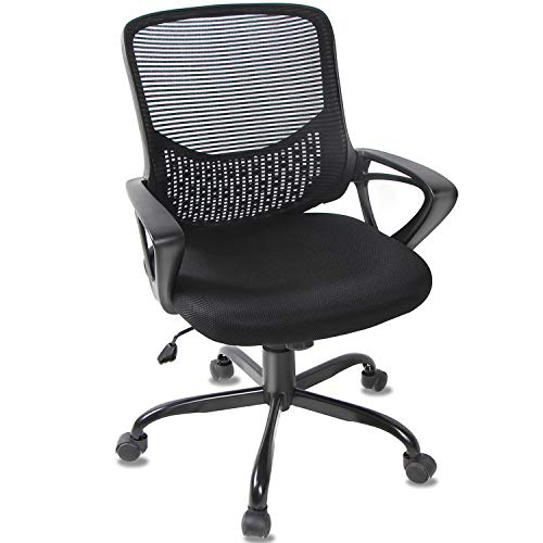 Smugoffice Office Chair, Computer Desk Chairs Ergonomic Mesh Task Chair Lumbar Support Comfortable with Armrests for Conference Room Home
