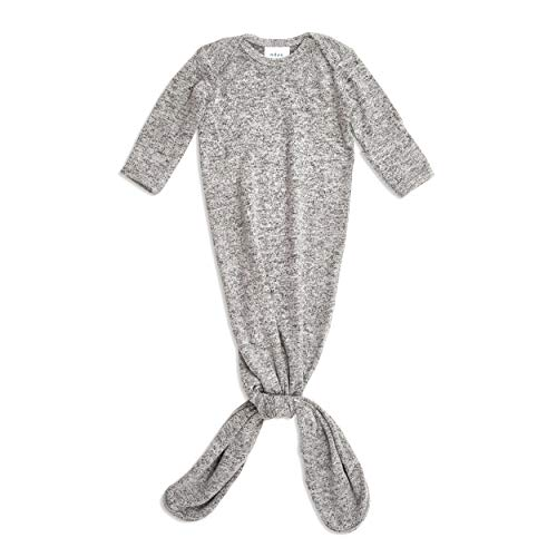 aden + anais Snuggle Knit Knotted Newborn Baby Gown, Super Soft and...