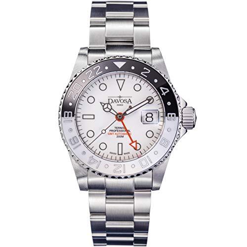 Herrenuhr Ternos GMT Black&White Limited inkl. Nylonband