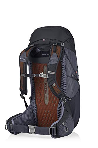 Gregory Mountain Products Men's Miwok 42 Hiking Backpack,FLAME BLACK