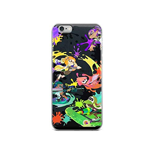 Phone Case Splatoon Compatible with iPhone 12 Pro Max Mini 11 Pro Max SE 2020 X/XS Max XR 8 7 6 6s Plus Case Pure Clear Phone Case