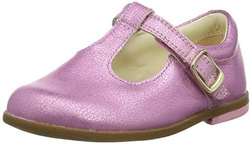 Clarks Mädchen Drew Shine T Geschlossene Ballerinas, Pink (Pink Sparkle Lea Pink Sparkle Lea), 23 EU