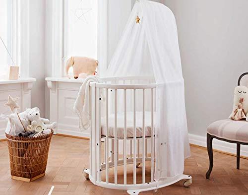 Giovanni Dolcinotti Baby Collection Drap-housse pour berceau 73 x 58 cm Compatible avec matelas Stokke Sleepi Mini, blanc 100 % coton, fabriqué en Italie