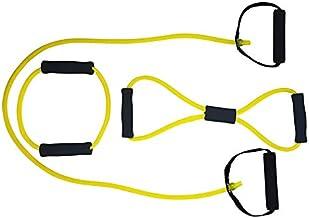 Tunturi Light-Resistance Tubing Set with Grip - Yellow