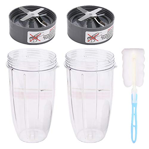 32oz Tall Cup and Extractor Bottom Blade, NutriBullet Replacement Parts Blender Accessories Compatible with Nutribullet 600W & Pro 900W NB-101B NB-101S NB-201 Models Mixer Blender