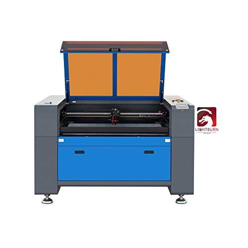 OMTech 80W CO2 Laser Engraver and Cutter with 24x35 Inch Auto Lift Workbed, Autofocus, Laser Engraving Cutting Etching Machine with LightBurn, Compatible with Windows, Mac, Linux System