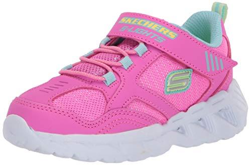 Skechers Magna-Lights, Zapatillas, Rosa (Pink & Multi Textile/Hot Pink Trim Pkmt), 23...