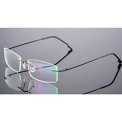 ZUOZUO Brillengestelle Herren Titan Gold Rahmenlose Brillengestelle Myopie Optischer Rahmen Leichte Randlose Brillen
