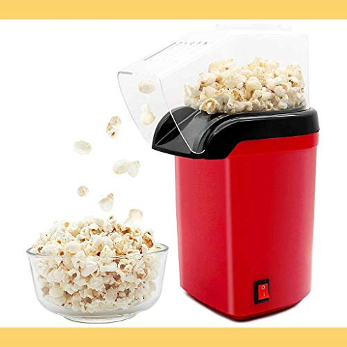 Buy Discount Hot Air Popcorn Popper, 1200W Fast Popcorn Maker with Measuring Cup, Oil-Free & Healthy...