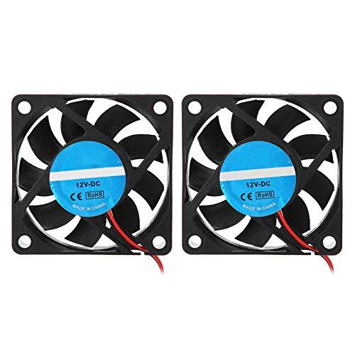 Tangxi 2Pcs 3D Printer Fan, 60x60x15mm 3D Printer Ventilador de enfriamiento, DC 12V 2500-6000RPM 13CFM Super Quiet 6015 Fan para...