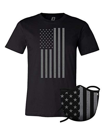 P3-Facemask/T-Shirt Bundle (XL, Grey Flag)