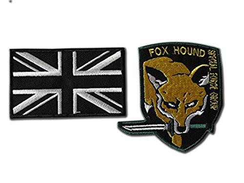 Juego de parches para airsoft de metal Gear Fox Hound de ONEKOOL