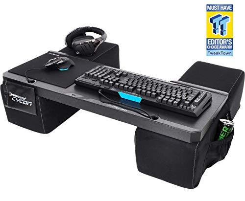 Couchmaster® CYCON Wildleder-Look schwarz - Die Couch Gaming Auflage für Maus & Tastatur (für PC / PS4 / Xbox One)