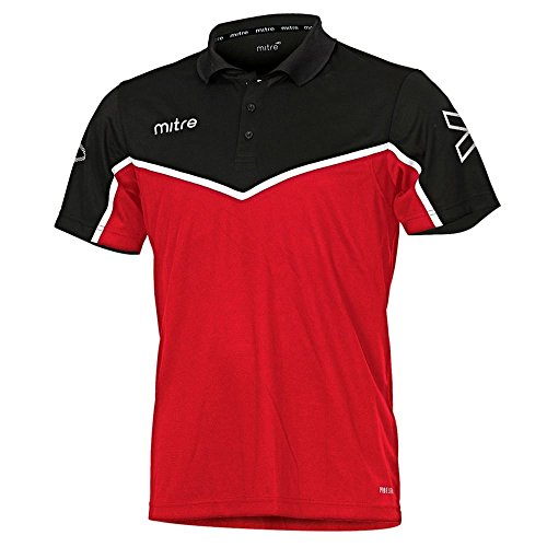 Mitre Primero Polo pour l'entraînement de football Mixte Adulte - Écarlate/Noir/Blanc - XL