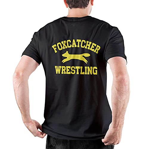 Foxcatcher Wrestling Mans 100% algodón Camisetas de Manga Corta Muscle Gym Workout Athletic Shirt