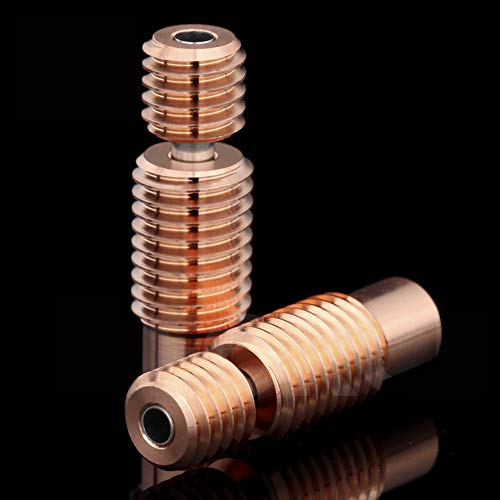 2 x Tubos de alimentación de barril térmico de metal bimetálico con rotura de calor para Volcano V6 HOTEND, Titan Aero Extruder Prusa i3 MK3 MK3S Impresora 3D