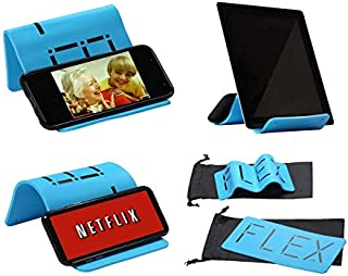 iFLEX Cell Phone,Tablet Stand/Holder for in-Flight Air Travel, Stronger Than Any Competitor, Flexible Phone Stand for iPhone Android iPad Kindle, Holds Any Mobile Device, Desktop Stand, Grips Well
