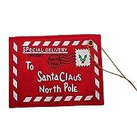 PULABO クリエイティブ6ピースクリスマスサンタレターメール封筒グリーティングカードツリーぶら下げ装飾プレミアム品質コストパフォーマンスの高い優れた物
