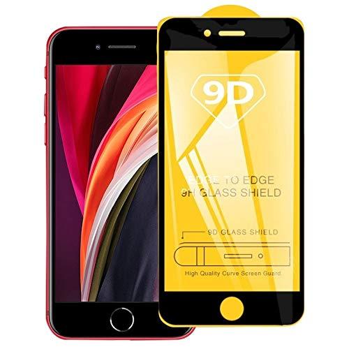 HULDORO 25 PCS for el iPhone 8 y 7 Pantalla Completa Pegamento 9D Completa de Cristal Templado de Cine Micro SD