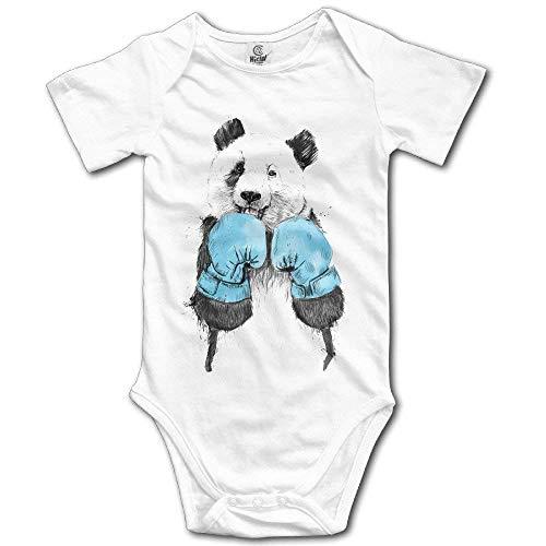 Tamianice - Body de bebé con oso panda de boxeo Blanco blanco 6 Meses